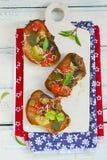 Bruschetta with ratatouille Stock Photos