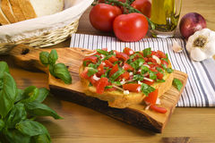 Bruschetta recipe Stock Photo