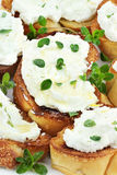 Bruschetta with Ricotta Cheese Royalty Free Stock Image