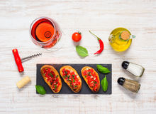 Bruschetta with Rose Wine and Spices royalty free stock image