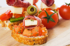 Bruschetta sandwich Royalty Free Stock Photo