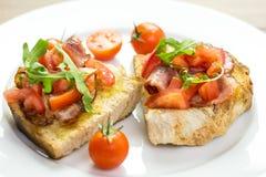 Bruschetta Sandwich Close Up Stock Photography