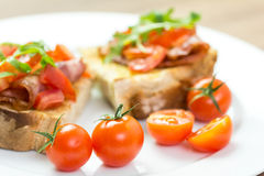 Bruschetta Sandwich Close Up Royalty Free Stock Image