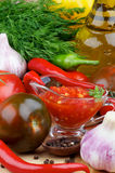 Bruschetta Sauce Royalty Free Stock Photography