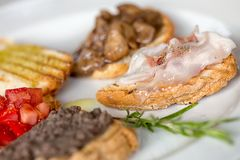 Bruschetta - shallow dof Royalty Free Stock Photography