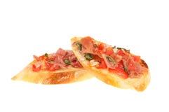 Bruschetta slices isolated stock photography