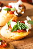 Bruschetta with sundried tomatoes Royalty Free Stock Photo