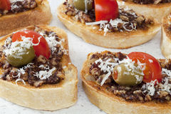 Bruschetta with Tapenade Royalty Free Stock Photos