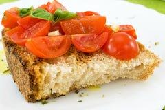 Bruschetta with tomato Stock Photos