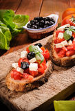 Bruschetta with Tomato Stock Photos