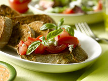 Bruschetta tomato Stock Photography