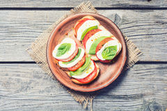 Bruschetta with tomato Royalty Free Stock Image
