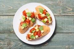 Bruschetta with tomato Stock Image