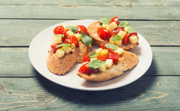 Bruschetta with tomato Stock Photo