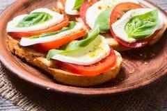 Bruschetta with tomato Royalty Free Stock Photos