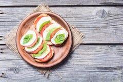 Bruschetta with tomato Royalty Free Stock Photo