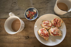 Bruschetta with tomato Stock Images