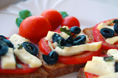 Bruschetta with tomatoes Royalty Free Stock Photography