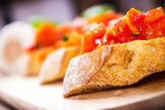 Bruschetta with tomatoes Stock Photography