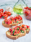 Bruschetta with tomatoes Royalty Free Stock Photos