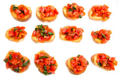Bruschetta topped Stock Photography
