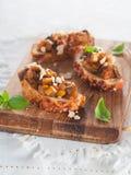 Bruschetta vegetal Fotos de Stock Royalty Free
