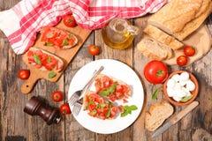 bruschettas с томатом Стоковые Изображения RF