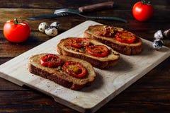 Bruschettas met Tomaten royalty-vrije stock foto