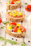 Bruschettas sandwiches Royalty Free Stock Photo
