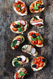Bruschettas time Royalty Free Stock Photography