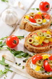 Bruschettas time Stock Photography