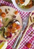 Bruschette avec des saumons Images libres de droits