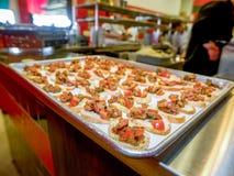 Bruschette cuite au four image libre de droits