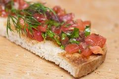 Bruschette italienne Image stock