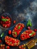 Bruschette italienne faite maison Photos libres de droits