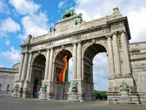 Bruselas - arco triunfal Foto de archivo libre de regalías