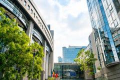 BRUSELAS, BÉLGICA - 16 de junio de 2016: Exterior del edificio de Imagen de archivo