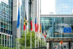BRUSELAS, BÉLGICA - 16 de junio de 2016: Exterior del edificio de Imágenes de archivo libres de regalías