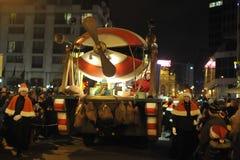 Bruselas, Bélgica, desfile de la Navidad, DEC 2013 Imagen de archivo