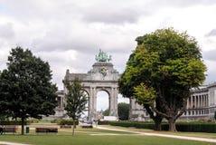BRUSELAS, BÉLGICA, jubelpark, arco triunfal Imagen de archivo libre de regalías