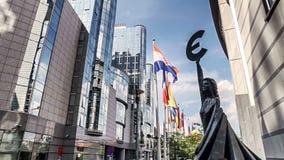 BRUSELAS, CIRCA 2014 - el parlamento de la unión europea, Bruselas metrajes