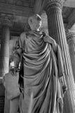 Bruselas - estatua de Cicero del palacio de la justicia Foto de archivo libre de regalías