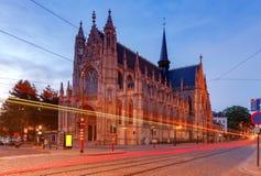 bruselas La iglesia de nuestra señora de victorias en el Sablon foto de archivo