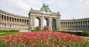 Bruselas - Parc du Cinquantenaire en el cuarto europeo fotografía de archivo