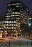 Bruselas por noche Imagenes de archivo
