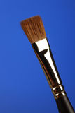 Brush. A brush isolated on a blue background Stock Images