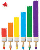 Brush. Vector illustration of paint and brushes Royalty Free Stock Photos