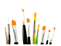 Brush. Several brushes work simple colors and white background Stock Image