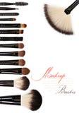 Brush. Makeup brush set isolated on white background Stock Image
