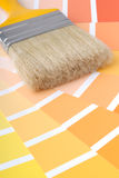 Brush. With different colour samples Royalty Free Stock Photos